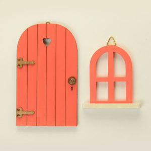 Door and Window Set - Coral