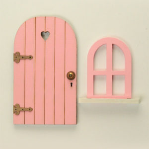 Door and Window Set - Pink
